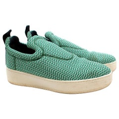 Celine by Phoebe Philo Green Knit Pull-on Trainers - Size EU 40