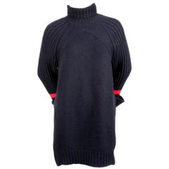 CELINE by PHOEBE PHILO oversized navy sweater with red stripe
