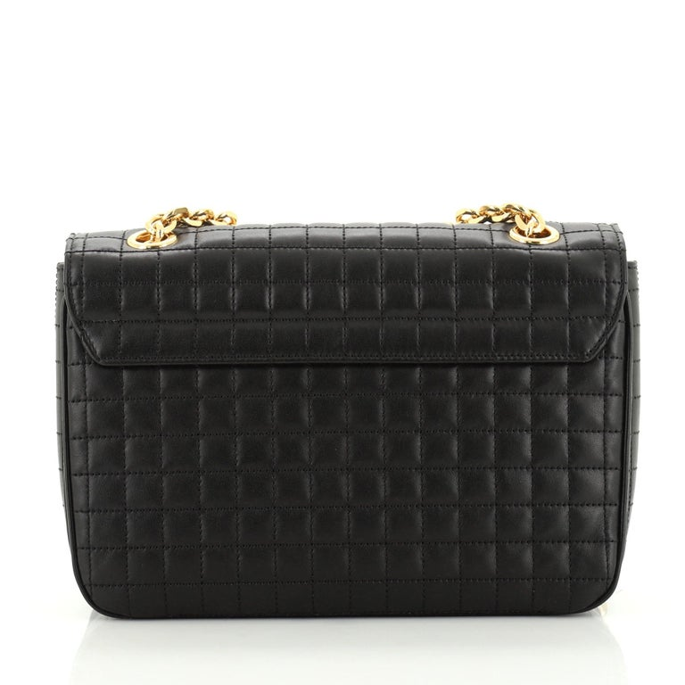 Celine C Bag Quilted Leather Medium In Good Condition In New York, NY