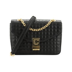 Celine C Bag Quilted Leather Medium