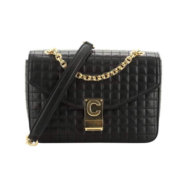 Celine C Bag Quilted Leather Medium