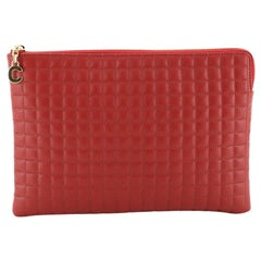 Celine C Charm Pouch Quilted Leather Medium