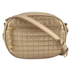 CÉLINE C charm Shoulder bag in Gold Leather