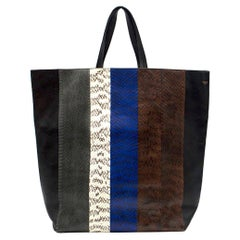 Celine Cabas Striped Tote Bag