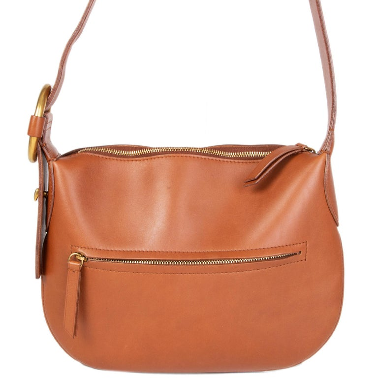 Brown CELINE camel brown leather Shoulder Bag For Sale