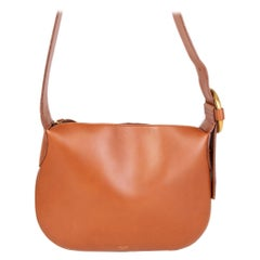 CELINE camel brown leather Shoulder Bag