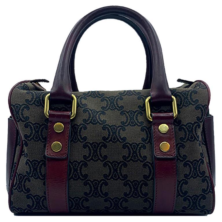 Celine Canvas Monogram Bag  For Sale