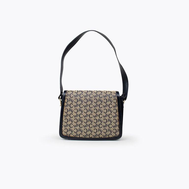 Gray Céline Carriage Flap Bag For Sale