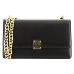 Celine Case Chain Flap Bag Leather Medium
