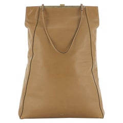 Celine Clasp Cabas Tote Leather Tall