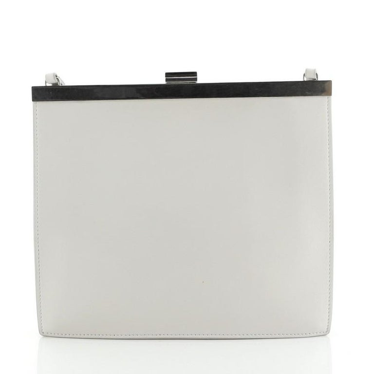 Gray Celine Clasp Crossbody Bag Leather Mini For Sale