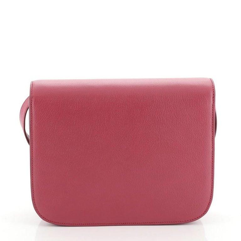 Women's or Men's Celine Classic Box Bag Grainy Leather Medium For Sale