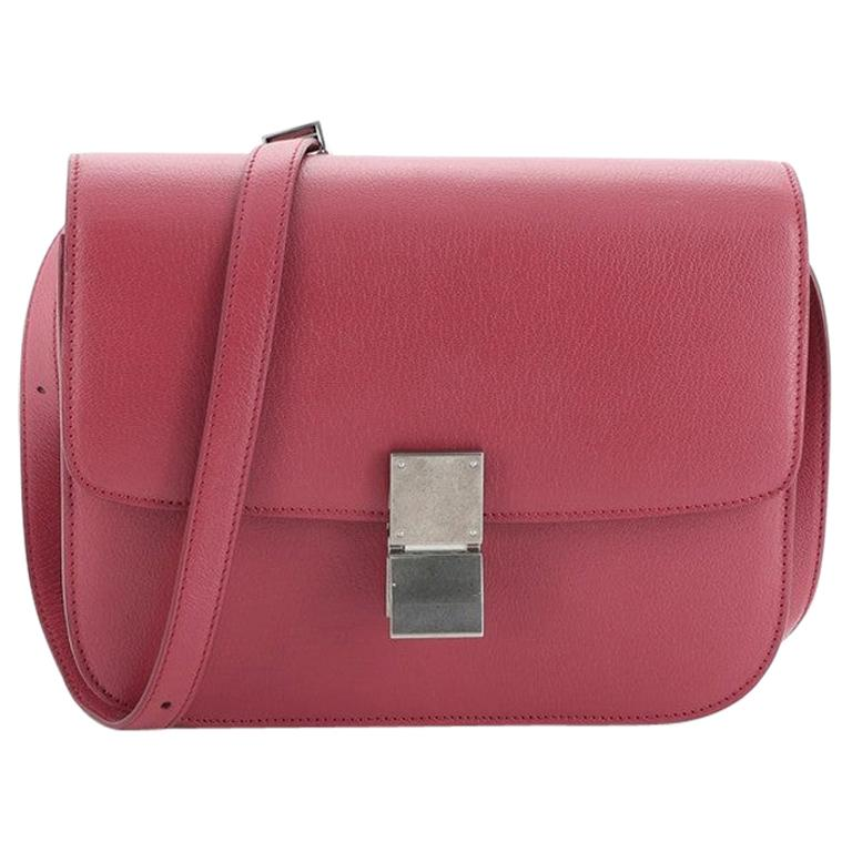 Celine Classic Box Bag Grainy Leather Medium For Sale