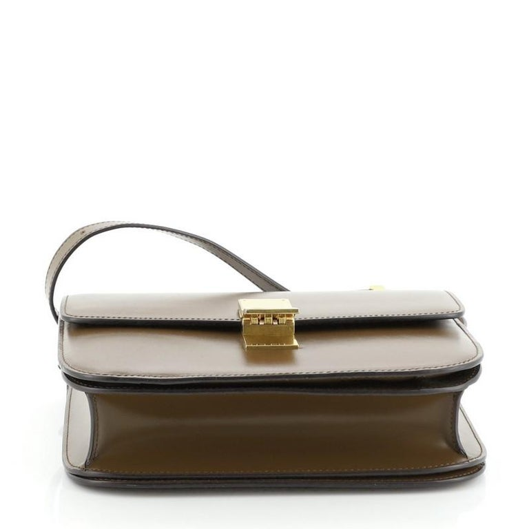 Women's or Men's Celine Classic Box Bag Smooth Leather Medium For Sale