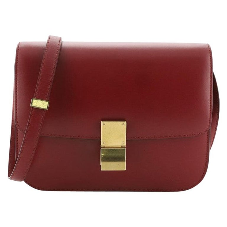 Celine Classic Box Bag Smooth Leather Medium For Sale