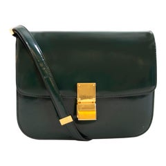 Celine Classic Green Patent Leather Bag