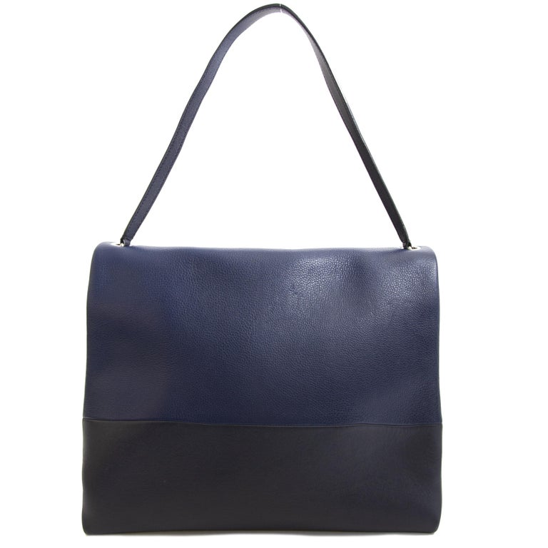 Celine Colorblocked Leather Shoulder Bag For Sale 1