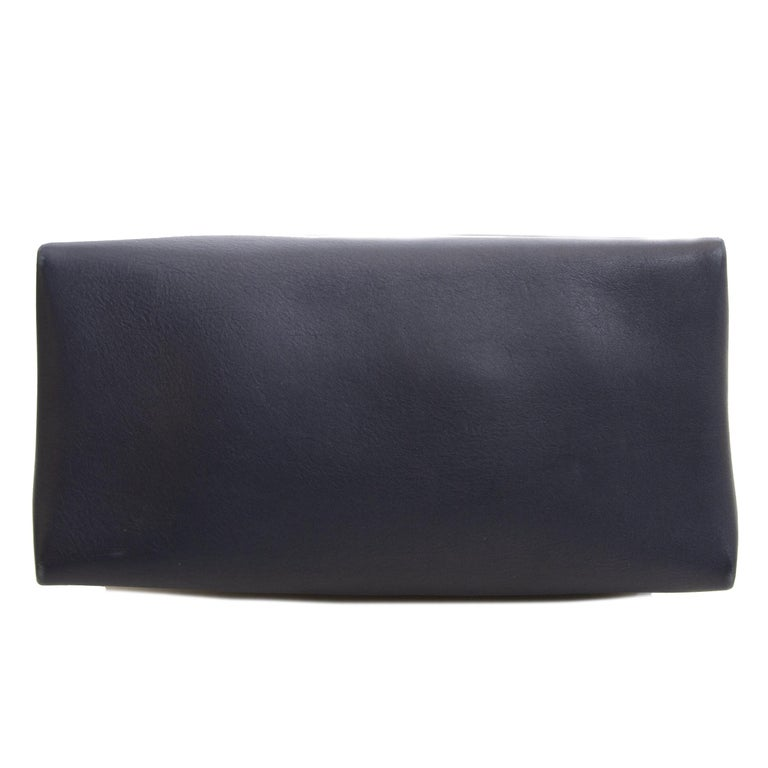 Celine Colorblocked Leather Shoulder Bag For Sale 2