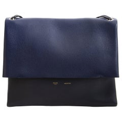Celine Colorblocked Leather Shoulder Bag