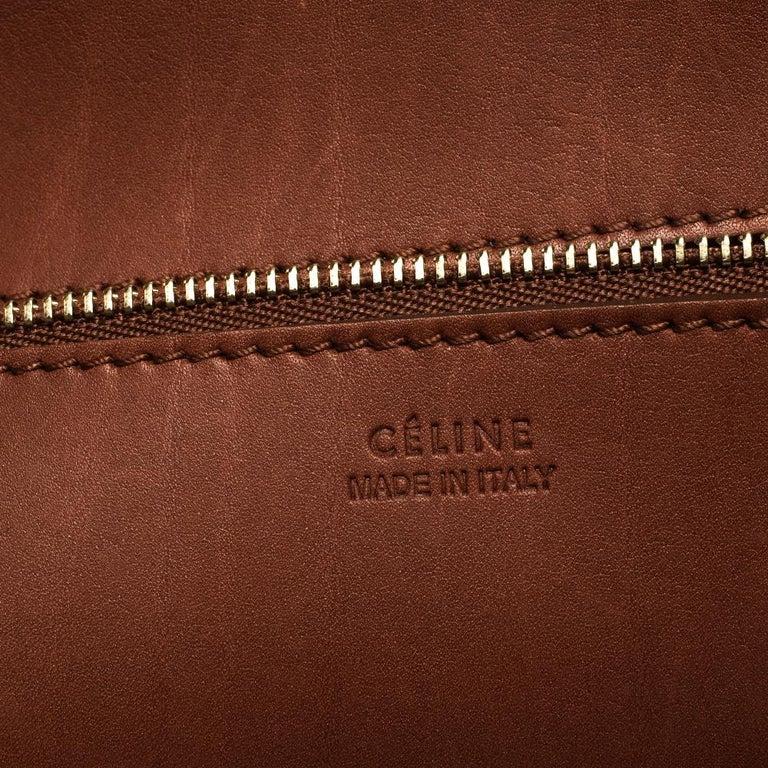 Celine Copper Leather Small Tie Tote 6