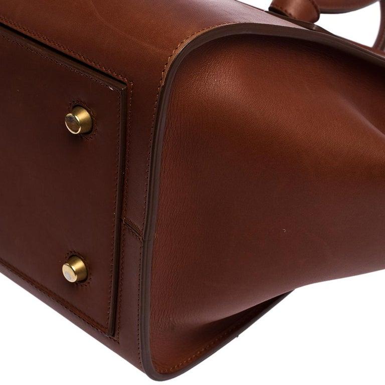 Celine Copper Leather Small Tie Tote 7