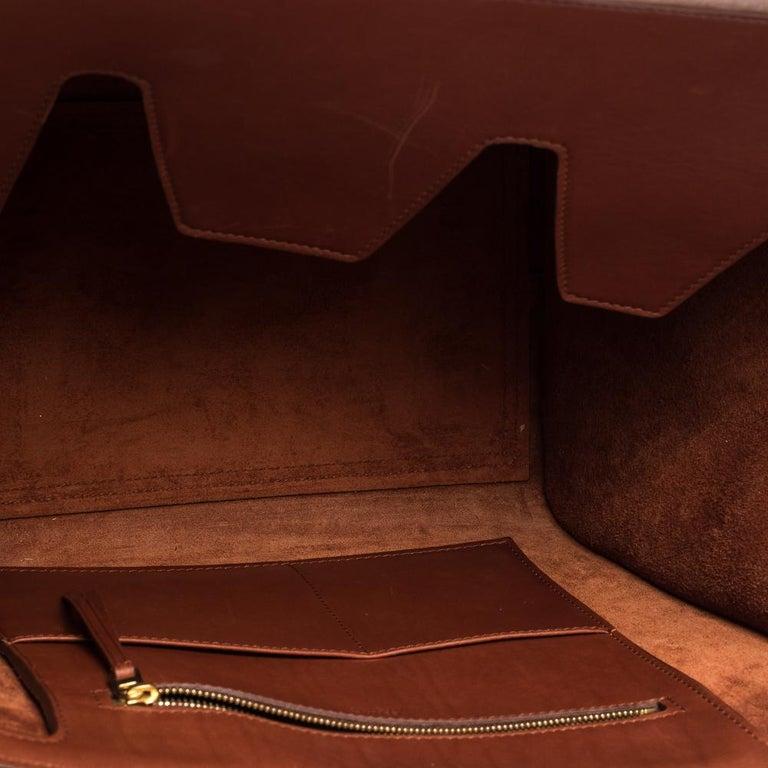 Celine Copper Leather Small Tie Tote 1