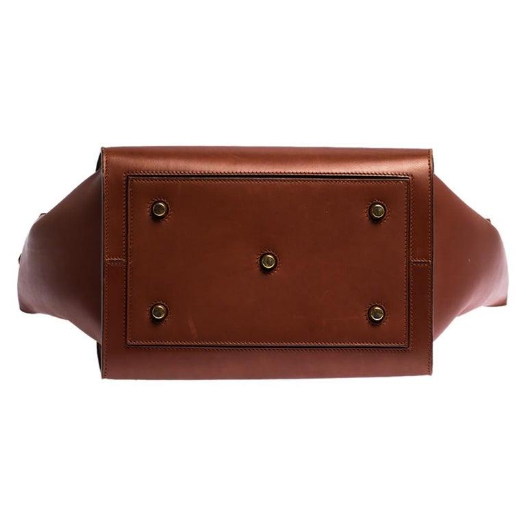 Celine Copper Leather Small Tie Tote 2