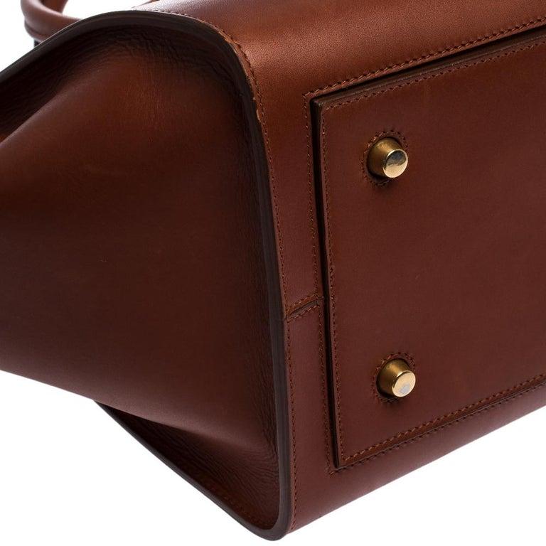 Celine Copper Leather Small Tie Tote 3