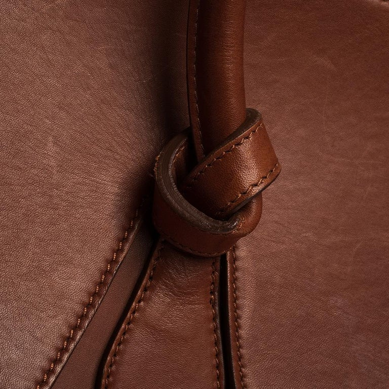 Celine Copper Leather Small Tie Tote 4