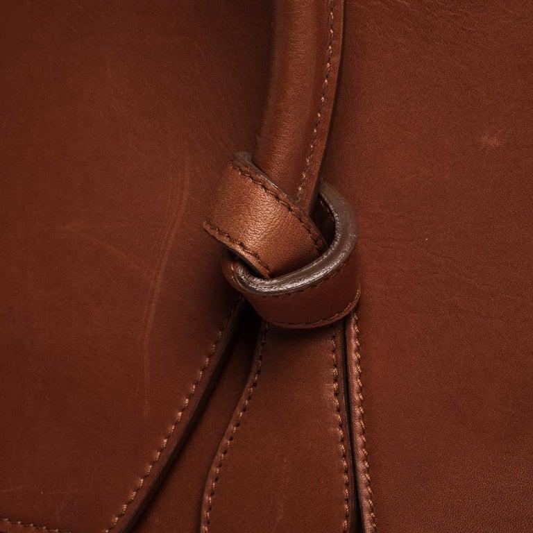 Celine Copper Leather Small Tie Tote 5