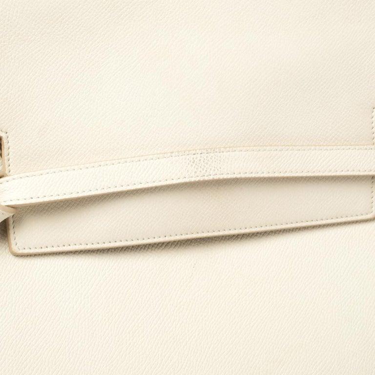 Celine Cream Leather Mini Belt Top Handle Bag For Sale 3