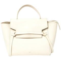 Celine Cream Leather Mini Belt Top Handle Bag
