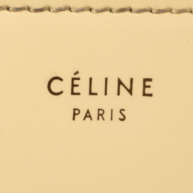 Celine Cream Patent Leather Zip Around Wallet For Sale 5