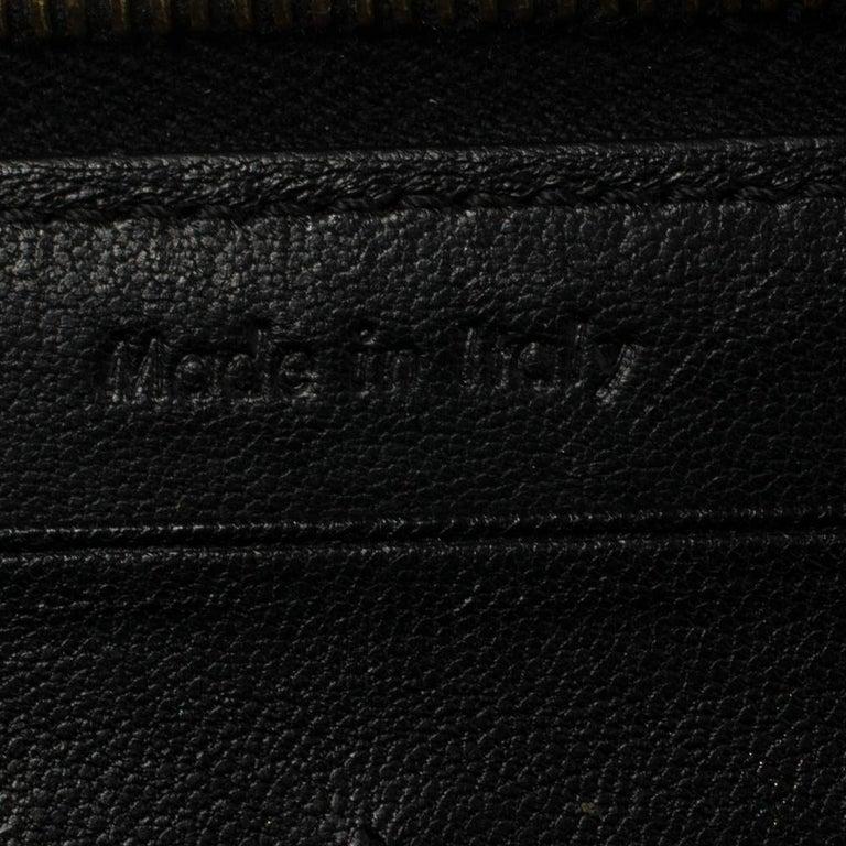 Celine Cream Patent Leather Zip Around Wallet For Sale 3
