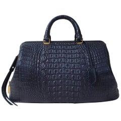 Celine Crocodile Bowling Bag