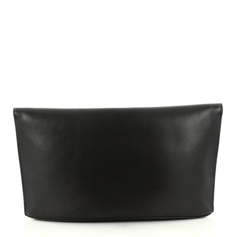 Celine Curved Evening Clutch Leather In Excellent Condition For Sale In New  York 7ce8ac827ebd3