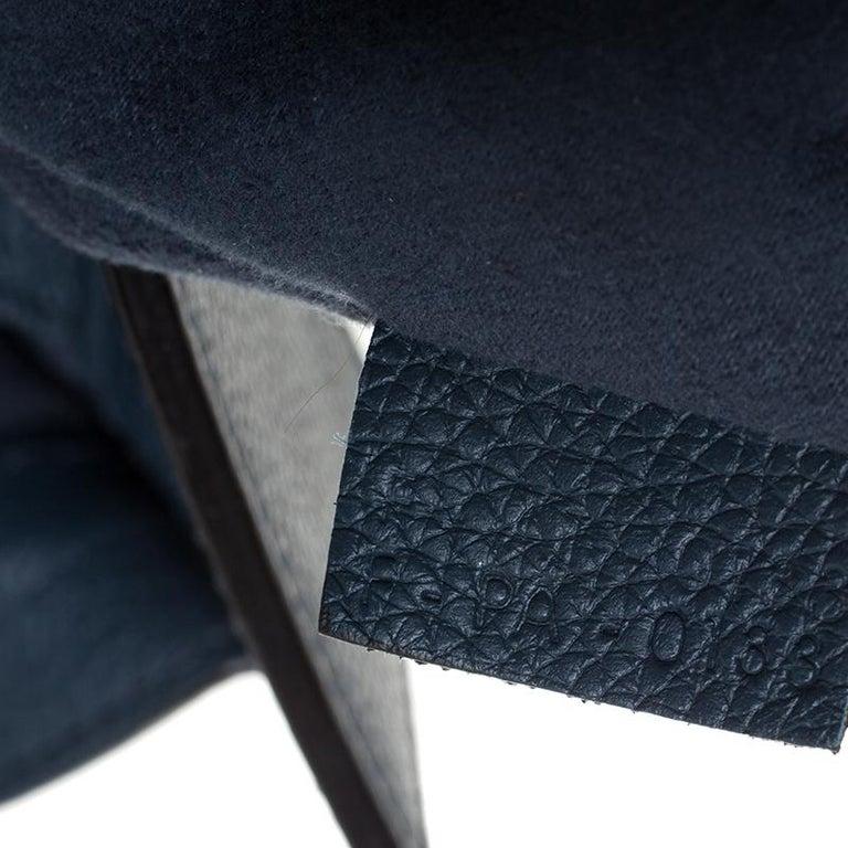 Celine Dark Blue Leather Mini Luggage Tote For Sale 6