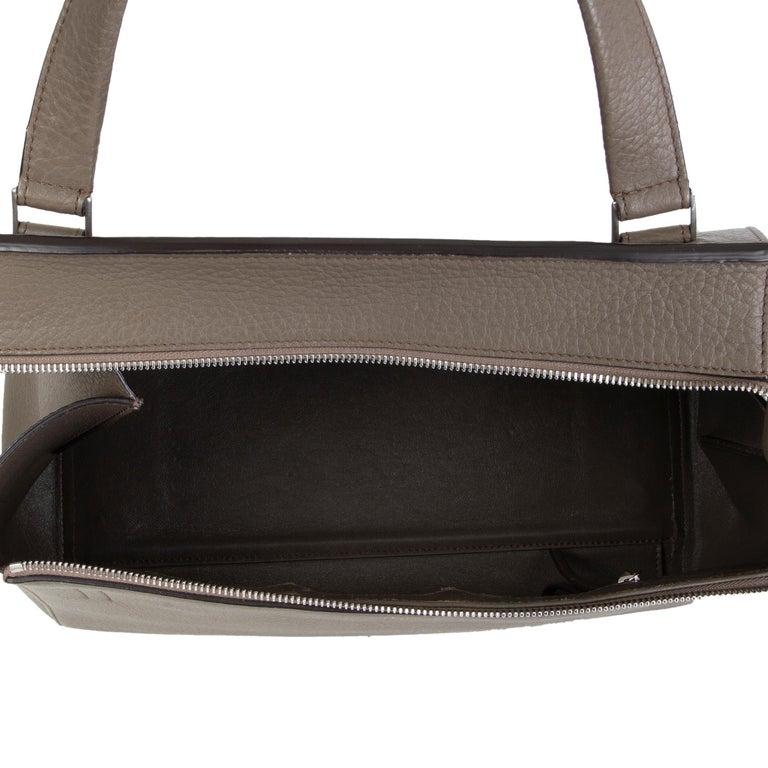 Women's CELINE dark khaki leather EDGE MEDIUM Shoulder Bag For Sale