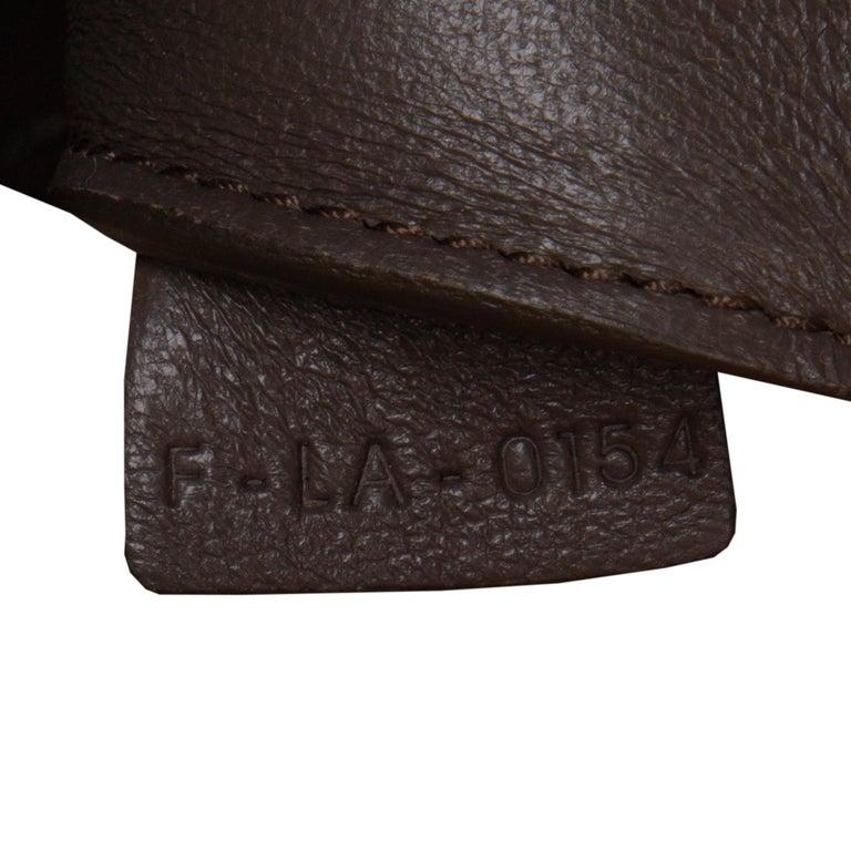 CELINE dark khaki leather EDGE MEDIUM Shoulder Bag For Sale 1