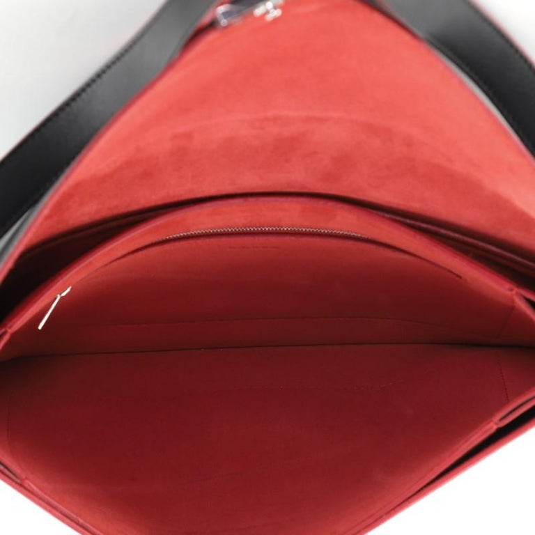 Celine Diamond Shoulder Bag Leather and Suede Large For Sale 1