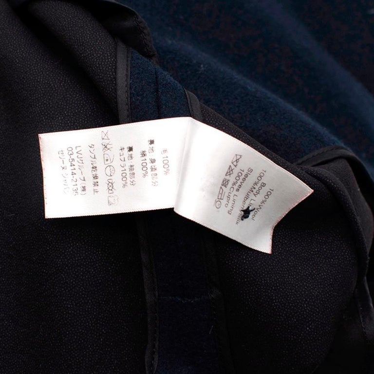 Women's or Men's Celine Double Breasted Wool Navy Coat - Size US 6 For Sale