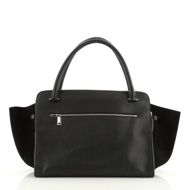 Women's or Men's Celine Double Zip Trapeze Bag Leather For Sale