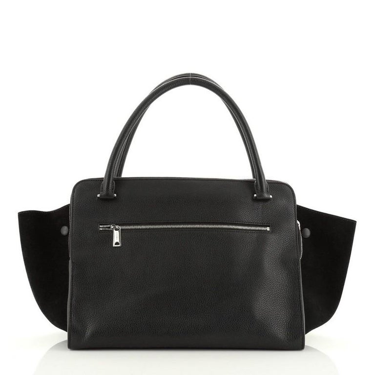 Celine Double Zip Trapeze Bag Leather In Good Condition For Sale In New York, NY