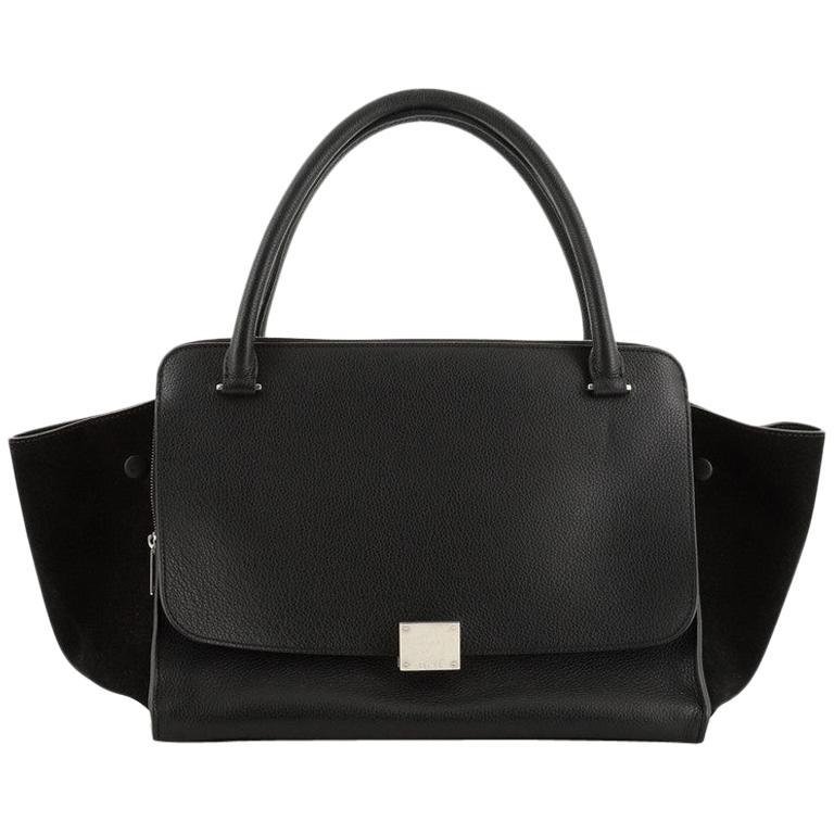 Celine Double Zip Trapeze Bag Leather For Sale