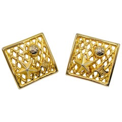 CELINE Earrings Vintage 1990s Clip On