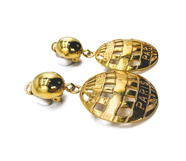 CELINE Earrings Vintage 1990s In Good Condition For Sale In London, GB