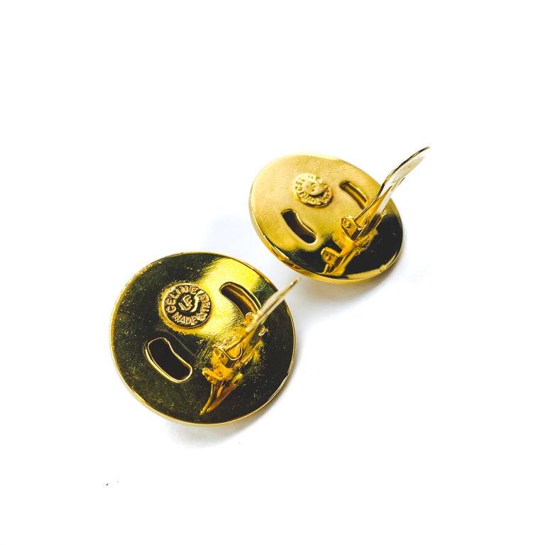 Women's or Men's CELINE Earrings Vintage 1990s For Sale