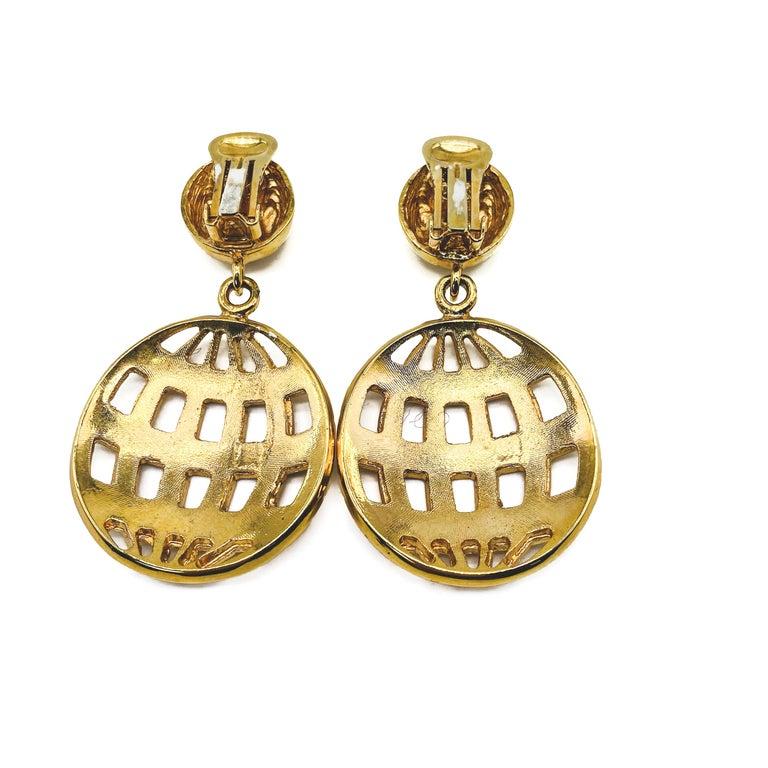 Women's CELINE Earrings Vintage 1990s For Sale