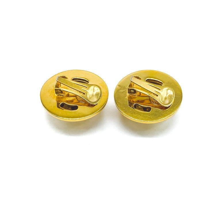 CELINE Earrings Vintage 1990s For Sale 2