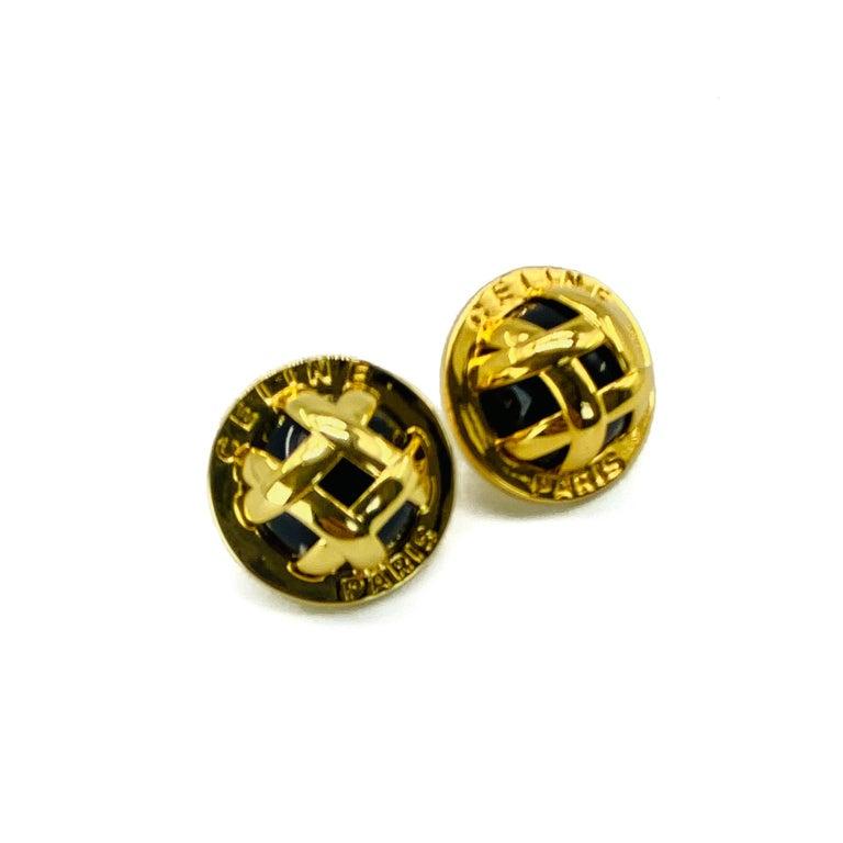 CELINE Earrings Y2K for Pierced Ears In Excellent Condition For Sale In London, GB